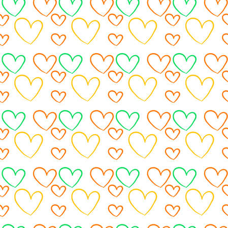 Heart wallpaper, illustration, vector on white background. Banque d'images - 152557794