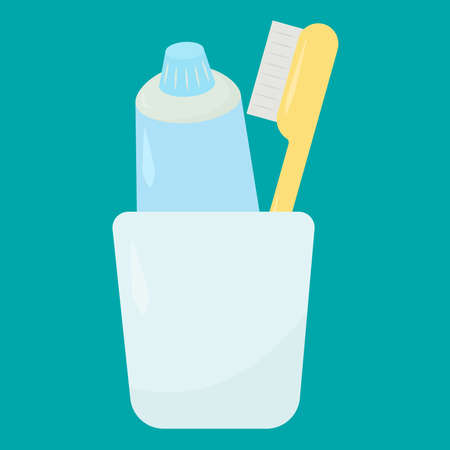 Toothpaste, illustration, vector on white background.