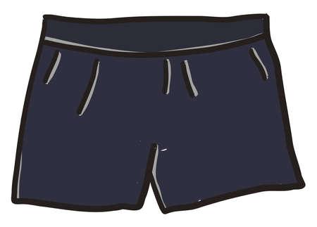 Blue short, illustration, vector on white background. Banque d'images - 152553695