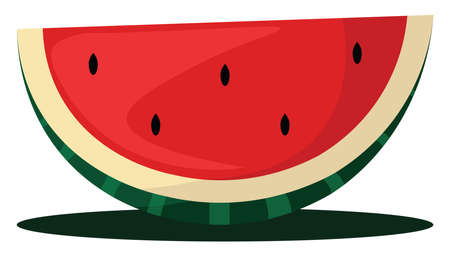Sweet watermelon, illustration, vector on white background. Banque d'images - 152553579