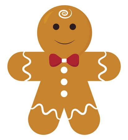 Gingerbread, illustration, vector on white background.