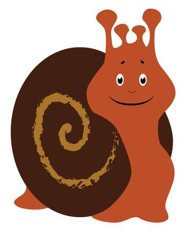 Helix snail, illustration, vector on white background. 矢量图像