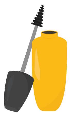 Yellow mascara, illustration, vector on white background.