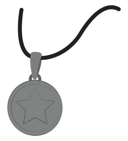 Pendant neckles, illustration, vector on white background.