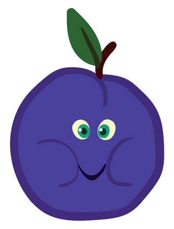 Fat prunes, illustration, vector on white background.