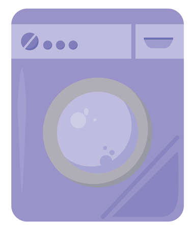 Purple washer, illustration, vector on white background.