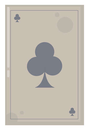 Ace of clover, illustration, vector on white background.