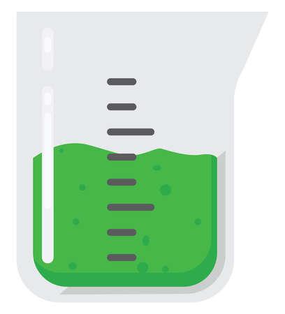 Beaker flask, illustration, vector on white background. Illustration