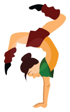 Dancer girl, illustration, vector on white background.