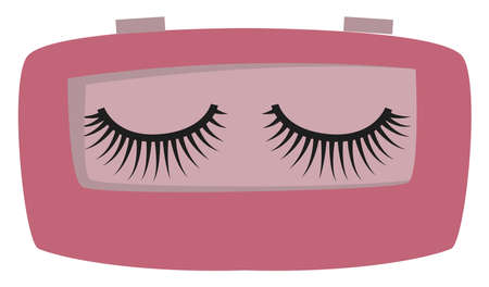 False eyelashes, illustration, vector on white background. Vettoriali