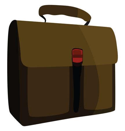 Work bag, illustration, vector on white background.