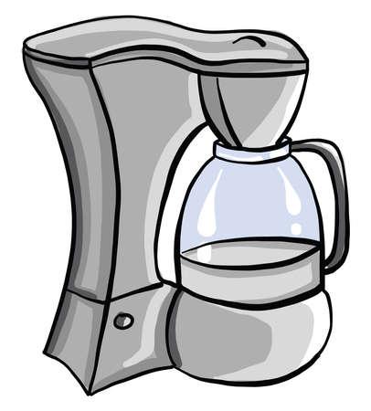 Juicer for juice, illustration, vector on white background. Illustration