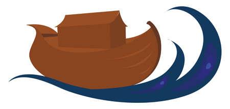 Noahs ark, illustration, vector on white background. Illustration