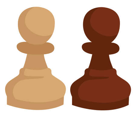 Chess figure pawn, illustration, vector on white background.