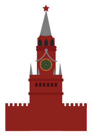 Red square, illustration, vector on white background. Иллюстрация