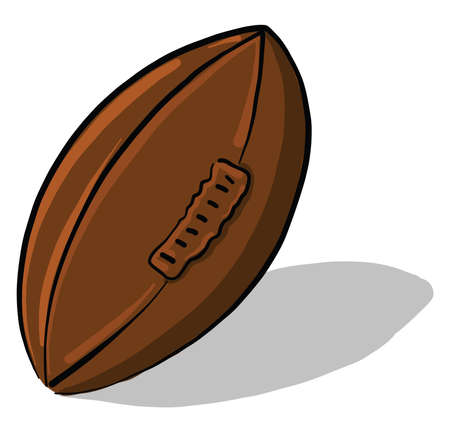 Old rugby ball, illustration, vector on white background