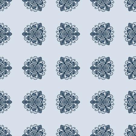 Calming mandala pattern, illustration, vector on white background