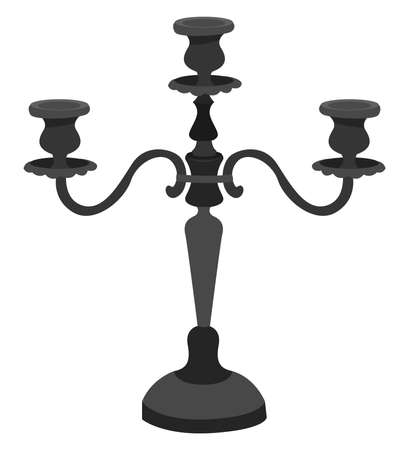 Candelabra, illustration, vector on white background