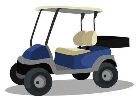 Golf cart, illustration, vector on white background