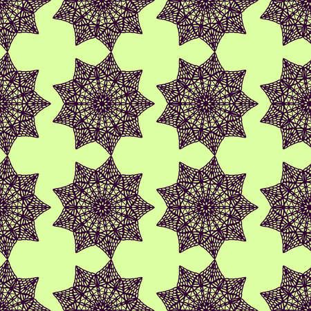 Interesting mandala pattern, illustration, vector on white background Illusztráció