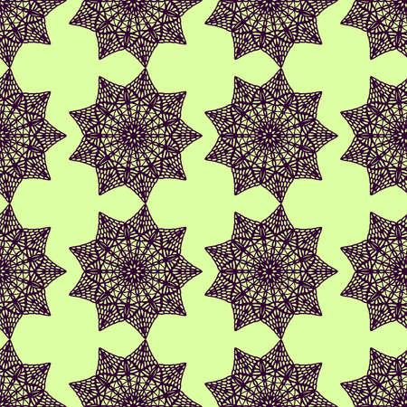 Interesting mandala pattern, illustration, vector on white background Stock fotó - 152608274