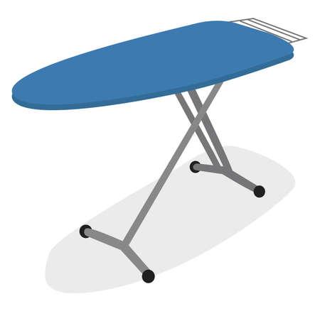 Ironing board, illustration, vector on white background