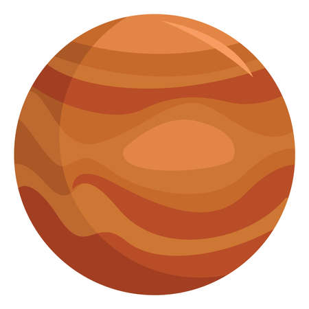 Planet Jupiter in space, illustration, vector on white background
