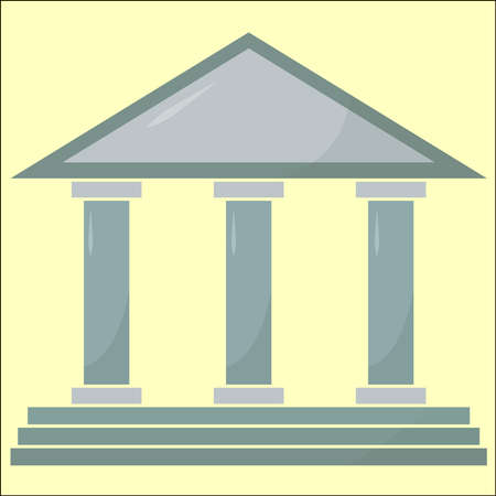 Part of Acropolis, illustration, vector on white background