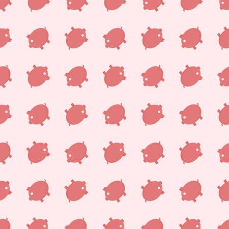 Piggy bank pattern, illustration, vector on white background  イラスト・ベクター素材