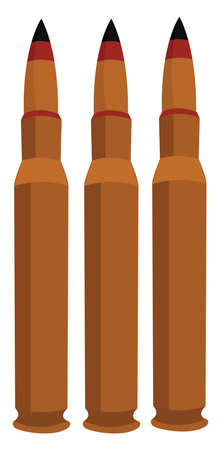 Long bullets, illustration, vector on white background