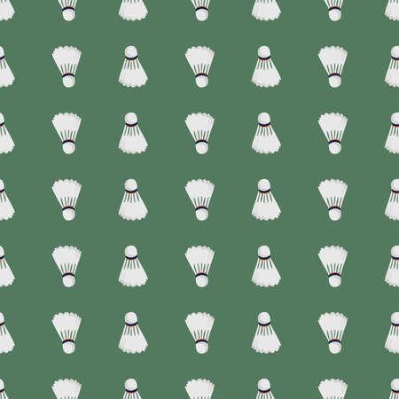 Badminton ball pattern, illustration, vector on white background
