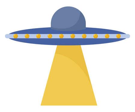 Blue UFO, illustration, vector on white background Stock fotó - 152563648