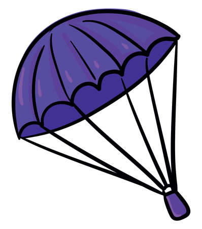 Purple parachute, illustration, vector on white background Illustration