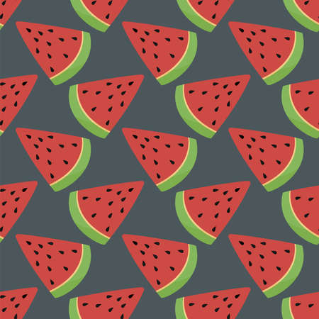 Watermelon slices pattern , illustration, vector on white background