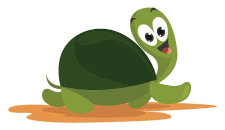 Fast turtle , illustration, vector on white background Векторная Иллюстрация