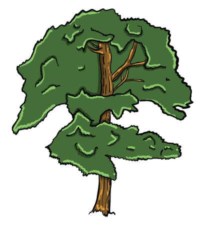 Green tree , illustration, vector on white background