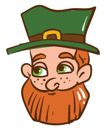 Happy Irishman , illustration, vector on white background