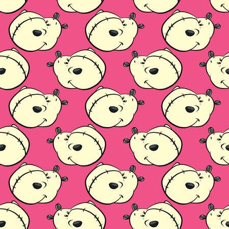 Hippos pattern , illustration, vector on white background 向量圖像