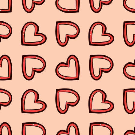 Hearts pattern , illustration, vector on white background