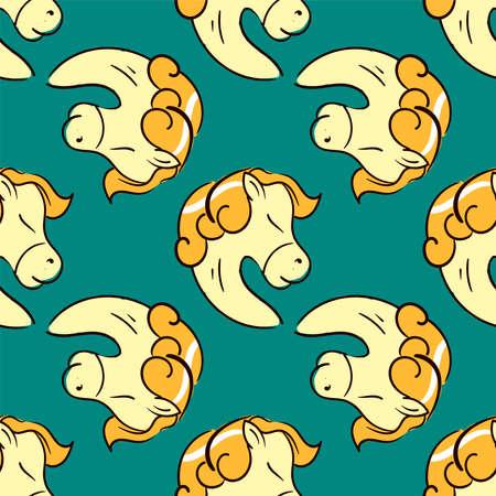 Horses pattern , illustration, vector on white background