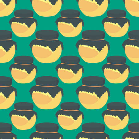 Honey pattern , illustration, vector on white background 向量圖像
