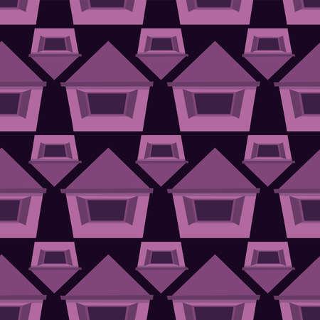 Homes pattern , illustration, vector on white background
