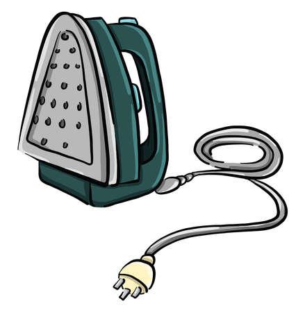 Green iron , illustration, vector on white background
