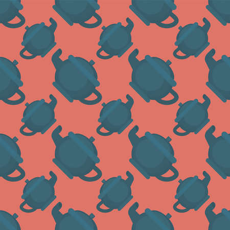 Kettle pattern , illustration, vector on white background