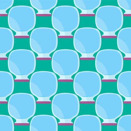 Empty jars pattern , illustration, vector on white background
