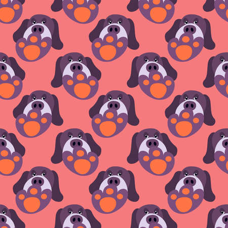 Dog foot pattern , illustration, vector on white background 向量圖像