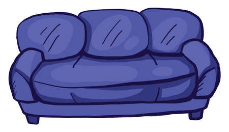 Purple couch , illustration, vector on white background Banque d'images - 152567540