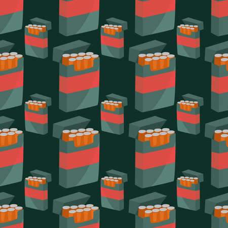 Pack of cigarettes pattern , illustration, vector on white background