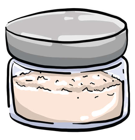 Sand powder , illustration, vector on white background