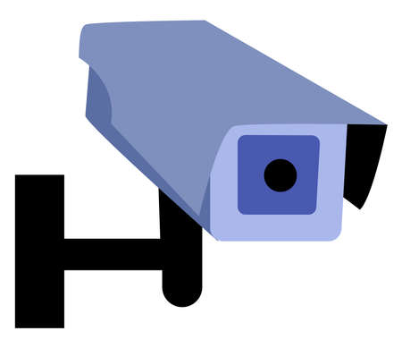 CCTV Security camera, illustration, vector on white background